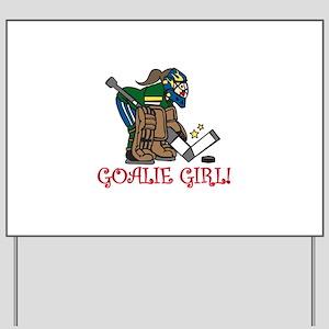 Goalie Girl Yard Sign