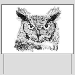 Horned Owl Yard Sign