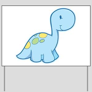Cute Baby Dinosaur Yard Sign