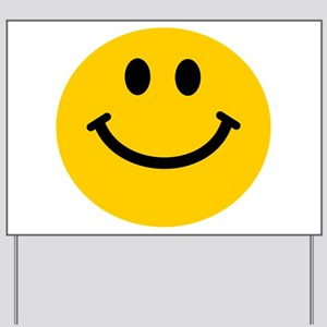 Yellow Smiley Face Yard Sign