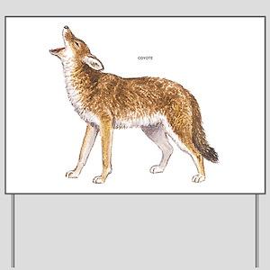Coyote Wild Animal Yard Sign