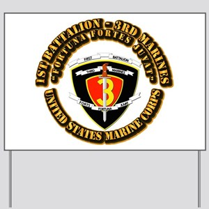 SSI - 1st Battalion - 3rd Marines With Text USMC Y