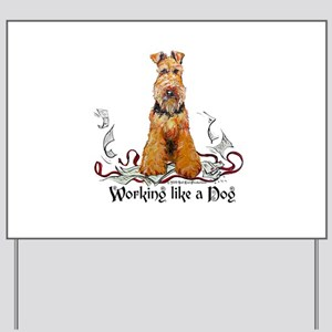 Working Airedale Terrier Yard Sign