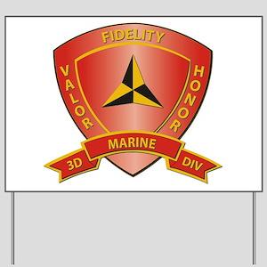USMC - HQ Bn - 3rd Marine Division Yard Sign