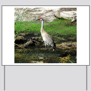 Sandhill Crane on Patrol LS Yard Sign