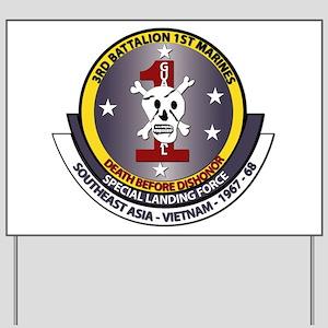 SSI - 3rd Battalion - 1st Marines USMC Yard Sign