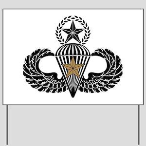 Combat Parachutist 1st awd Master B-W Yard Sign