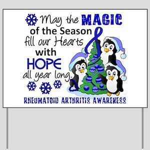 Holiday Penguins RA Yard Sign
