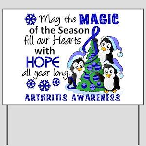 Holiday Penguins Arthritis Yard Sign