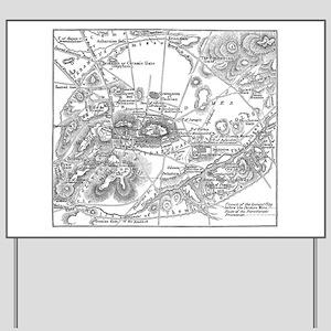 Ancient Athens Map Yard Sign