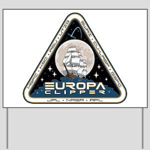 Europa Clipper Logo Yard Sign