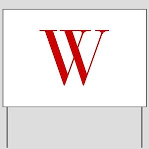 W-bod red2 Yard Sign