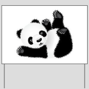Baby Panda Yard Sign