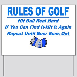Rules Of Golf Yard Sign