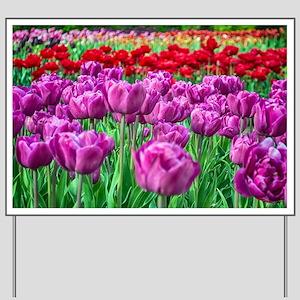 Tulip Field Yard Sign