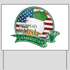Proud Irish American Yard Sign