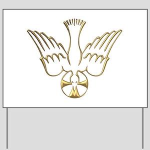 Golden Descent of The Holy Spirit Symbol Yard Sign