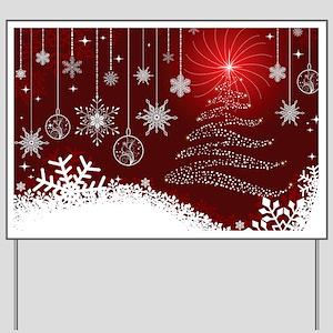 Decorative Christmas Ornamental Snowflak Yard Sign
