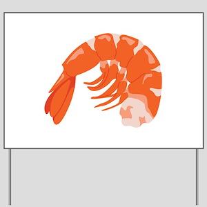 Shrimp Yard Sign