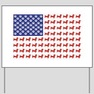 Patriotic Dachshund/USA Yard Sign