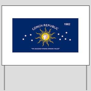 Conch Republic Plate Yard Sign