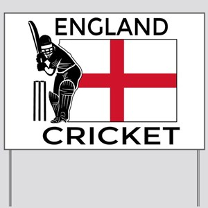 England Cricket Yard Sign
