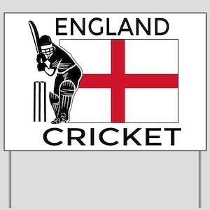 England Cricket Yard Sign