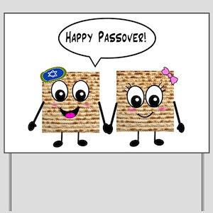 Happy Passover Matzot Yard Sign
