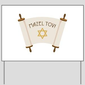 MAZEL TOV! Yard Sign
