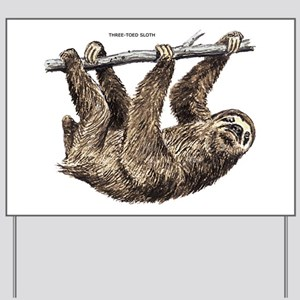 Three-Toed Sloth Yard Sign