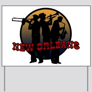 Retro New Orleans Yard Sign