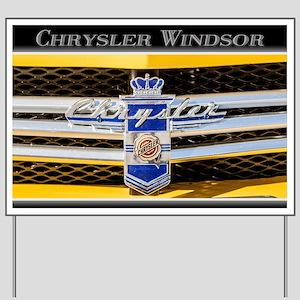 Vintage Chrysler Car Yard Sign