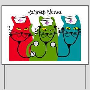 Retired Nurse Blanket CATS Yard Sign