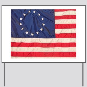 AMERICAN COLONIAL FLAG Yard Sign