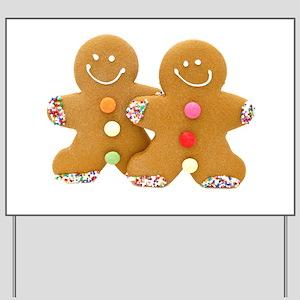 Gingerbread Men Yard Sign