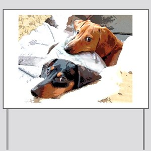 Naptime Doxies Yard Sign