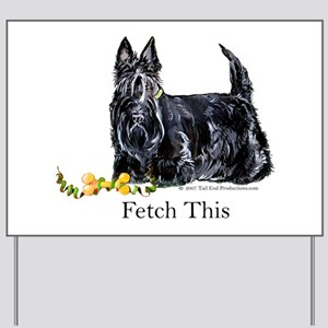 Scottish Terrier Holiday Dog Yard Sign