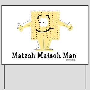 Matzoh Man Passover Yard Sign