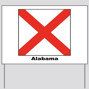 Alabama State Flag Yard Sign