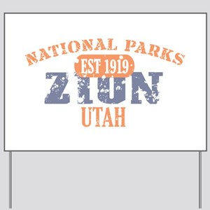 Zion National Park Utah Yard Sign