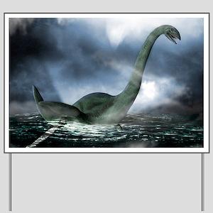 Loch Ness monster, artwork Yard Sign