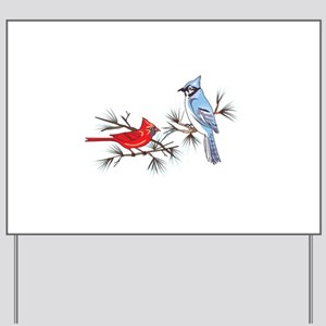 BLUEJAY AND CARDINAL Yard Sign