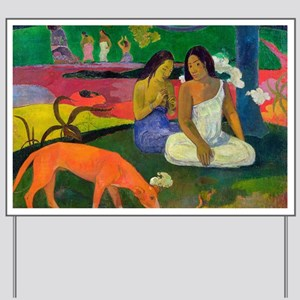 Arearea (The Red Dog) by Paul Gauguin Yard Sign