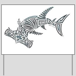 Tribal Hammerhead Shark Yard Sign