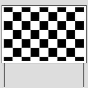 checker board Yard Sign