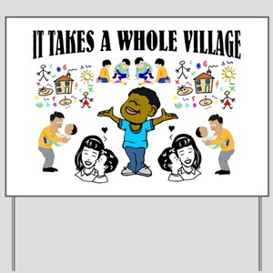 Childrearing Black children Yard Sign
