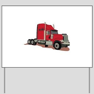 Semi Truck Yard Sign