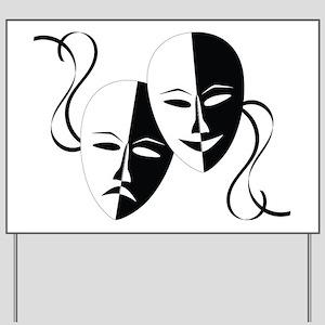 Theater Masks Yard Sign