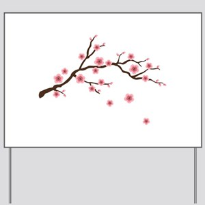 Cherry Blossom Flowers Branch Yard Sign