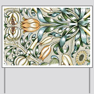William Morris vintage design: Lily and  Yard Sign